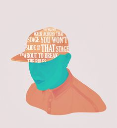 ANONYMOUS MAG ~ Break the rules #colourful #verse #manchester #illustration #fashion #man #face #typography