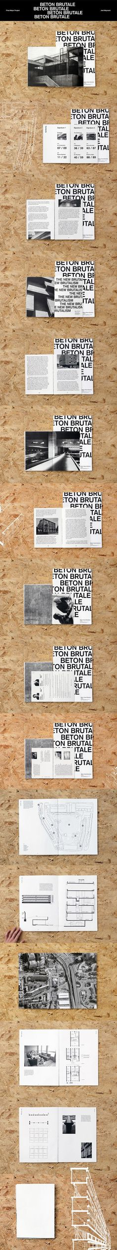 Beton Brutal | Brutalism Book  #brutalism #architecture #layout #book #spreads #brutalist #thesmithsons #photography #minimal #graphicdesign