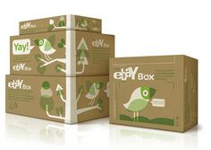 Office | Work | eBay Box / Shipping greener #identity #packaging #box