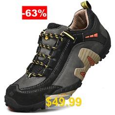 AILADUN #Men's #Shoes #Low #Cut #Outdoor #Sports #Walking #Shoes #Large #Size #- #GRAY