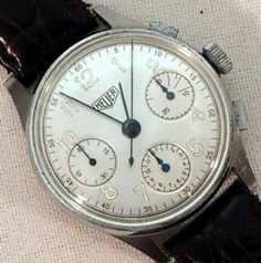 1940s Heuer Triple Reg Chronograph #analog #dial #mechanical #piece #time #watches