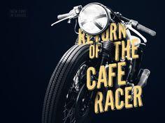 CafeRacer Typeface #cool #font #typography #hipster #retro #racer #vintage #bike #dark #logo #moto #race