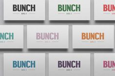 Bunch 4 #business #type #cards #branding