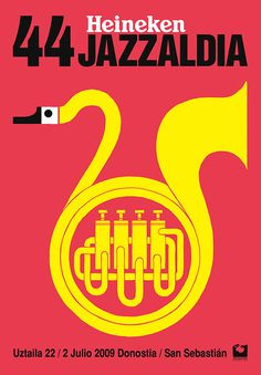 It's Nice That : Graphic Design: Bright and bold posters from Spaniard Ivan Solbes #spain #jazz #ivan #solbes #illustration #poster #heineken #jazzlandia