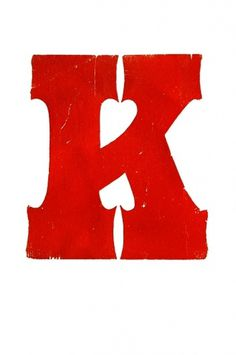 All sizes | K | Flickr - Photo Sharing! #wood #print #cut #typography