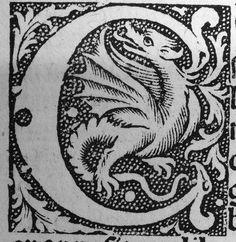 dragon c #woodcut #engraving
