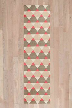 Geometric 2x8 Rug - Urban Outfitters #interior #rug #home