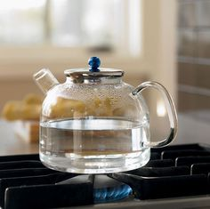 Heat Proof Glass Tea Kettle #tech #flow #gadget #gift #ideas #cool