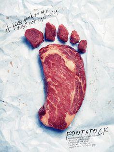 Footstock #foot #footstock #design #conceptual #typography #advertising #steak #peter #meat #photography #handwritten #poster #feet #bell