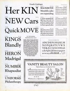 Goudy Catalog type specimen #type #specimen #typography