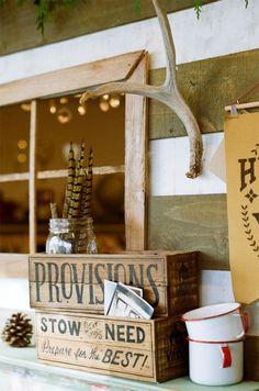 Winter Cabin Collection - Provisions Crate #lettering #vintage #typography