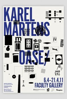 KAREL MARTENS – OASE – Lecture, Melbourne | Swiss Legacy #poster #typography