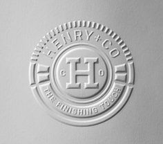 Henry + Co | Lovely Stationery FRONT, in cream #emboss #business #card #letterpress #stationery #logo