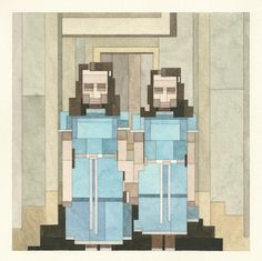 8-Bit Watercolor Paintings by Adam Lister