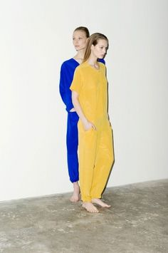 DIAMOND STANDARDS #sweden #models #yellow #swedish #jumpsuit #fashion #blue