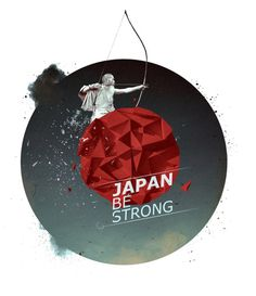 pray for japan on the Behance Network #pray #print #help #poster #japan