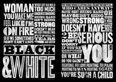 debutart_ilovedust_14241.jpg (788×560) #strong #white #woman #you #black #fire #slab #typography