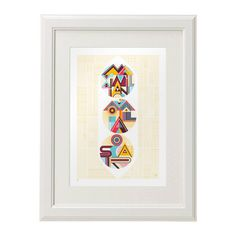 Three peas in a pod typographic large format poster #geometric #typography