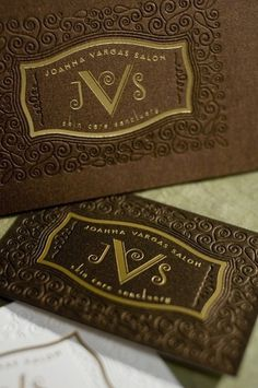Joanna Vargas Salon Brand Identity and Makeover #brier #embossing #design #luxury #vintage #gold #logo #david #foil #typography