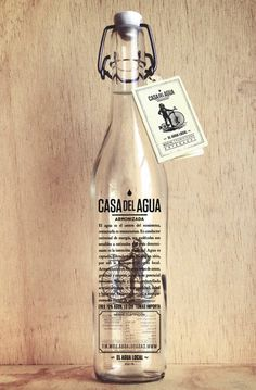 lovley package casa del agua #packaging #glass #water #bottle