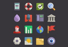 Colorful flat icon set psd Free Psd. See more inspiration related to Design, Icon, Icons, Colorful, Flat, Flat design, Psd, Flat icon, Icon set, Set and Horizontal on Freepik.