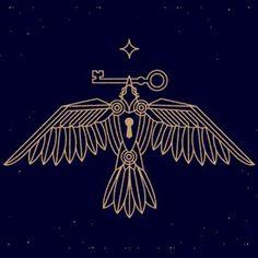 logo, bird, key