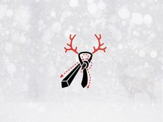 TIE A TIE winter holidays #design #graphic #winter #illustration #tie
