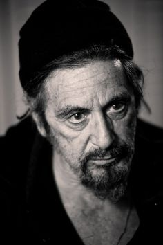 Casting By on the Behance Network #white #pacino #al #black #portrait #and