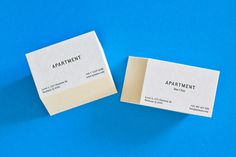 Apartment bussines cards #cards #letterpress #bussines