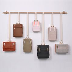 Dezeen » Blog Archive » Tassenkast by Lotty Lindeman #hanging #storage #wall #bags