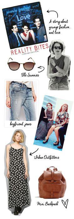 reality-bites #ryder #reality #bites #90s #winona #daisy #fashion #dress #boyfriend #style #jeans