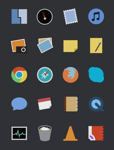 Free Minimal App Icons #illustration #design #app #icons