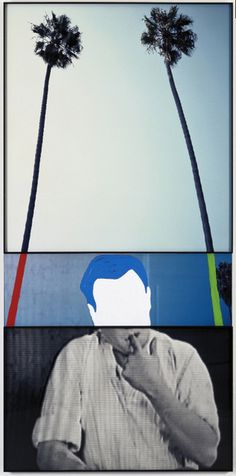 John Baldessari The Overlap Series: Two Palm Trees (and Person with Finger in Mouth), 2001 Digital colorprint, acrylic on sintra board