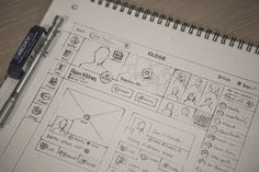 Hd #wireframe #scribble