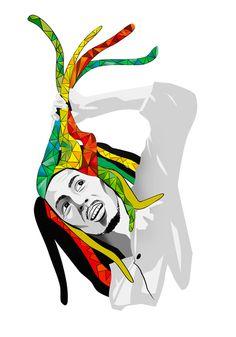 El Gran Bob #vector #regaae #bob #illustration #roots #marley