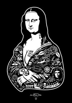 RIOT for PEACE x ERR-OR Clothing : the MonaLisa #poster #illustration #posterartillustration #art