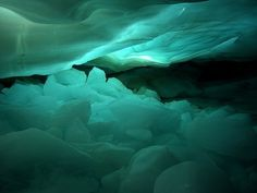 Natural Blues #glacier #blue #ice #green