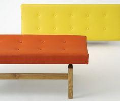 U 620 upholstered bench, Jens Risom furniture from Rocket, London #jens #risom