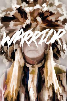 #warrior #type #native #photoshop