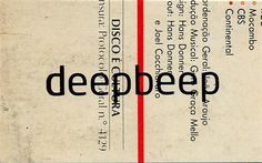 business card - deepbeep #silkscreen #business #card #vinyl #stationery #music