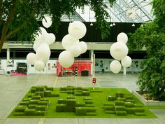 NR2364 / Danish Arts Council / Womex #balloons #grass #event #nr2154 #environmental #green