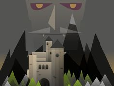 Dracula #fantasy #vector #illustration #magic #castle