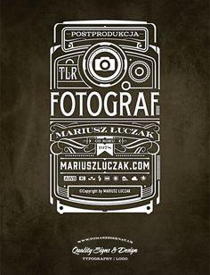 Fotograf by Tomek Biernat #logo #design #identity #typography