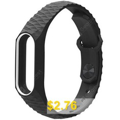 Soft #TPU #Replacement #Wristband #Watch #Strap #for #Xiaomi #Mi #Band #2 #- #WHITE #AND #BLACK