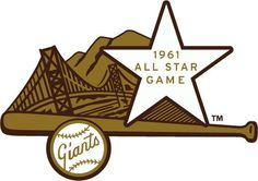 1961 MLB All-Star Game Logo #giants #sf #vintage #baseball #logo