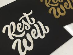Rest well screen print by Winston Scully