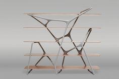 duende PR | Galerie BSL : « Naturoscopie » – Solo show Noé Duchaufour-Lawrance #aluminum #carbon #fibre #paint #shelf #honeycomb