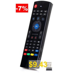 TK617 #2.4G #Wireless #Six #Axis #Gyroscope #Full #Keyboard #Air #Mouse #Remote #Control #- #BLACK