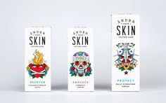 Packaging under you skin —Robot food #packaging #care #tatto #illustration #identity