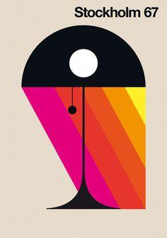 Stockholm 67 #design #poster #colourful